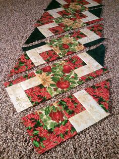 The Recipe Bunny: Christmas Table Runner and Tutorial                                                                                                                                                                                 More