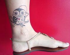 Owl Tattoo Designs - The Body is a Canvas Bild Tattoos, Love Tattoos, Beautiful Tattoos, Picture Tattoos, Body Art Tattoos, New Tattoos, Fearless Tattoos, Amazing Tattoos, Owl Tattoo Design