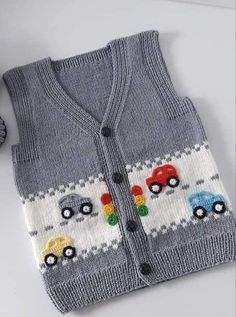 KABARTMALI BEBEK YELEĞİ - Erkek Bebek Yeleği Yapılışı / Knit Baby Vest Knitting , lace processing is the most beautiful hobbies that females are unable to give up. Knitted Baby Cardigan, Knit Vest, Easy Knitting, Knitting Socks, Baby Boy Knitting Patterns, Vest Pattern, Lace Patterns, Baby Sweaters, Crochet Clothes