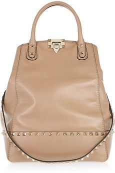 Valentino Rockstud New Dome leather bucket tote NET-A-PORTER.COM - StyleSays