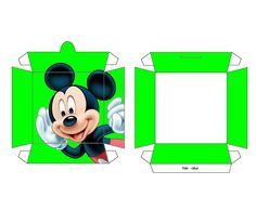 Mickey Mouse printable snack box ....