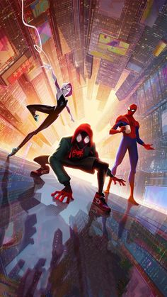 Spider Man into the Spider Verse Movie Poster Comics Film Print - Anime Characters Epic fails and comic Marvel Univerce Characters image ideas tips Marvel Comics, Marvel Art, Marvel Avengers, Wallpaper Spider Man, Man Wallpaper, Marvel Wallpaper, Beautiful Wallpaper, Spiderman Kunst, Spiderman Spider