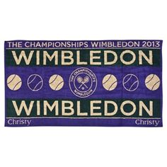 Wimbledon Mens Championships Towel 2012 - Get this for Dad's bday next year Towel with his initials) Wimbledon 2012, Wimbledon Tennis, Tennis Tournaments, Tennis Clubs, Tennis Players, Polo Ralph Lauren, Lawn Tennis, Souvenir
