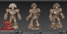Digital model created in Mudbox For War Of The Ravaged by Lloyd Chidgzey Lion Sculpture, War, Statue, Digital, Model, Scale Model, Pattern, Models