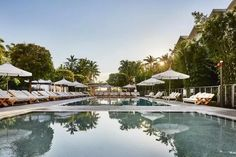 Another 50s era hotel that has secured a place in Miami's best hotels and ranked 4th on our top 10 best luxury hotels in Miami list. Among the many things it offers to its patrons, one of the main selling points of this hotel is the central pool.#hotelsinmiami#hotelsinmiamisouthbeach#hotelsinmiamibeach#hotelsinmiamiflorida#miamihotels#miamibeachhotels#miamihotelssouthbeachmiamihotelsluxury Hotel Miami, Best Hotels In Miami, Miami Beach Hotels, Florida Hotels, Hotel Pool, Florida Beaches, Nautilus, Donna Summers, Cabanas