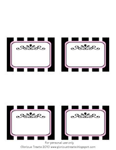 Free printable French/Paris party labels