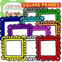 10 Color Square Frames for Personal and Commercial Use