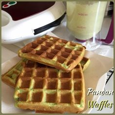 (Prima like) My Mind Patch: Pandan Coconut Waffle II using Tefal Waffle Maker (Outside crispy, inside tender)