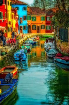 Colours of Burano, Veneto, Italy, province of Venezia