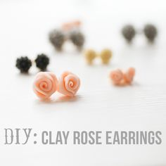 elm street life: DIY: Clay rose earrings [geo shapes would be neat too]