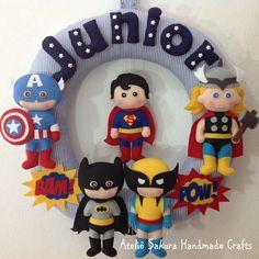 Guirlanda tema Super Heróis para o Junior