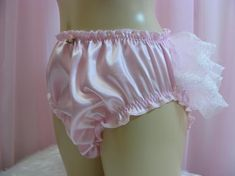sissy frilly silky PINK satin lace sissy mens panties lingerie knickers all sizes kinky fetish ~CD T Panty Design, Frilly Knickers, Lingerie For Men, Pink Satin, Gym Shorts Womens, Lace, Sexy, How To Wear, Fashion