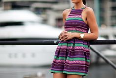 awesome print and neckline