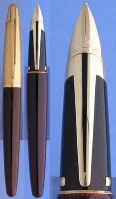 Edson brown fountain pen #waterman, #edson, #fountain pen, #gold
