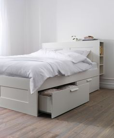 Incredible White Storage Bed Frame getting Home Cozier