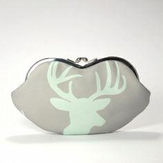 Sunglasses case - Deer head/ smartphone case/clutch/wallet | at Handmade Emporium  #handmadepurse #deerpurse #handmadeemporium #australianmade #purse #wallet