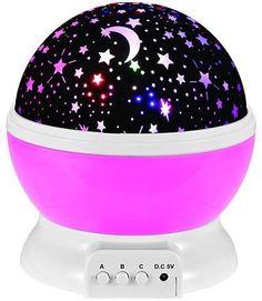 Mew Starry Sky Babysbreath Autorotation LED Night Light