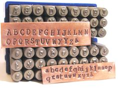 typewriter font 3mm metal alphabet stamps for hand by romazone