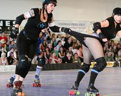 THIS is why I wear extra panties under my shorts (over my tights) for derby!! That's one hell of a whip.