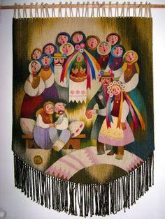 Tapestry by Michael Bilas Ukrainian Christmas, Ukrainian Art, Woven Wall Hanging, Wedding Art, Handmade Home Decor, 4th Of July Wreath, Wall Tapestry, Fiber Art, Ukraine