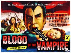 BLOOD OF THE VAMPIRE 1958 X