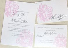 Peony Wedding Invitation Suite от encrestudio на Etsy, $3.50