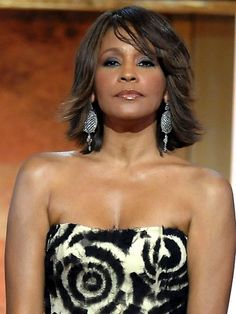 This January 17, 2009 file photo shows singer Whitney Houston at the BET Honors in the Warner Theatre in Washington.