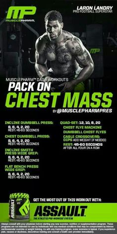 MusclePharm Pack on Chest Mass