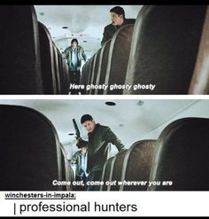 "S04E13 ""After School Special"" Professional hunters <3"