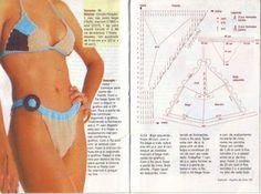 Bikini set with diagram