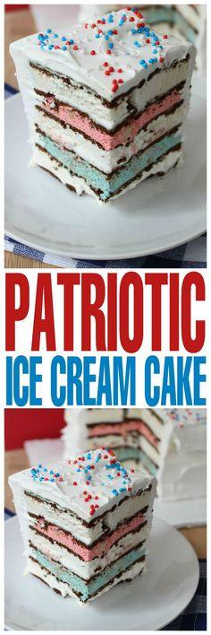 Patriotic Ice Cream Cake Recipe