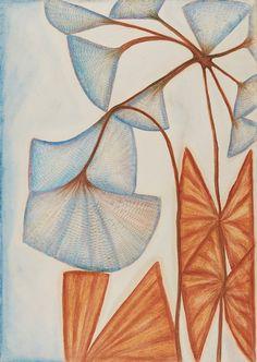 Anna Zemánková Untitled , Early Pastel on paper x inches 83 x cm AZe 616 Botanical Art, Botanical Illustration, Koloman Moser, Outsider Art, Recycled Art, Surreal Art, Floral Motif, Art Dolls, Art Decor