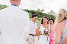 Intimate Beach Wedding Ceremony - Photo by Liz Cowie Photography - Windermere Inn by the Sea in Melbourne, FL - click pin for more - www.orangeblossombride.com