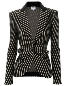 Armani Collezioni Black Sand Jacket Stripes