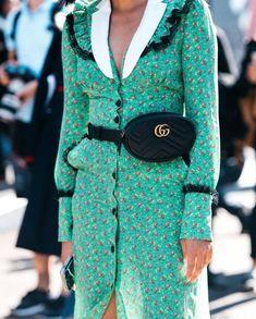 "debec841261 Scandinavian Inspired Fashion on Instagram  ""The  gucci Marmont Matelassé belt  bag 💚"