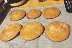 Paleo Hamburger Tahini Bun - low carb - keto - starch free bread
