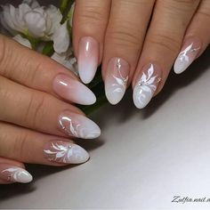Simple but most elegent white floral nail art 2019 - Ruth Fe.- Simple but most elegent white floral nail art 2019 – Ruth Fer. Simple but most elegent white floral nail art 2019 – - White Nail Art, Floral Nail Art, Gel Nail Art, Nail Manicure, Art Nails, Acrylic Nails, Nail Polish, Manicures, Coffin Nails
