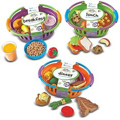 Toy Foods - Learning Resources New Sprouts Bundle of Breakfast Lunch and Dinner ** Details can be found by clicking on the image.