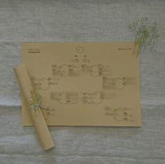 卓の輪や、メイン卓のイラストは手描き。  #ミンサー #手作りロゴ #席次表 #かすみそう #ペーパーアイテム  #クラフト紙 #A4 #手作りアイテム #手作り #オリジナル #アットホーム #ナチュラル #結婚式 #Wedding #ガーデンウェディング #ルーデンス立川ウェディングガーデン