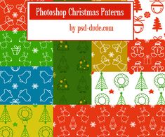 Christmas Patterns for Photoshop Free And Premium PAT Files Photoshop Pattern Set for Christmas Time Christmas Gift Wrapping, Gift Wrapping Paper, Free Photoshop Patterns, Christmas Material, Shops, Christmas Photography, Christmas Background, Party Flyer, Photoshop Tutorial