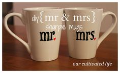 diy {mr} sharpie mugs