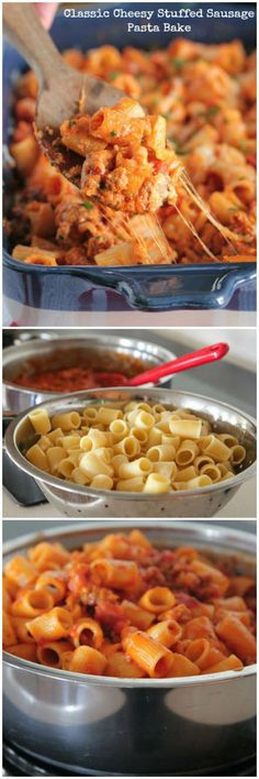 Cheesy Stuffed Pasta Bake Recipe.. There Is SOO Much Cheese! Yummy...This Casserole Is To Die For!!