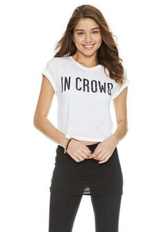 In Crowd Tee - Graphic Tees - Tops - Clothing - dELiA*s