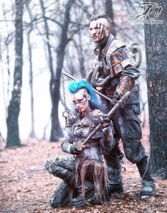 Tribe Riot - Wasteland raiders LivingDreadDoll & Menerikpicture by: Orkfotografie.nl 2016https://www.facebook.com/TribeRiot—-This picture was taken while waiting for the next scene of the Shireen video.It was an awesome but cold day. We did our own styling and it is our own gear.