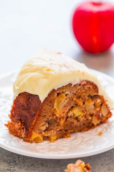Apple Cinnamon Cake with Cream Cheese Frosting – An EASY, one-bowl, no-mixer apple cake that's to-die-for!! Loaded with juicy apples in every bite, perfectly spiced, and topped with tangy cream cheese frosting! So DELISH!! If you're in need of an easy, one-bowl, no-mixer apple cake recipe, this is the one to make. It's loaded with …