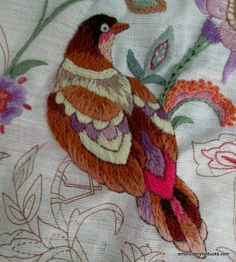Bird Brocade: Bird Feathers Finished