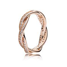 PANDORA | Rosé goud ring lint van liefde -  129 euro