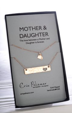 Inspirational Mother Daughter Bar Necklace Set. par erinpelicano