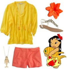 Lilo inspired outfit from Disney Lilo & Stitch