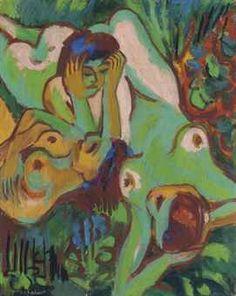 Ernst Ludwig Kirchner (1880-1938) Badende in der Wiese Price realised  GBP 845,000 USD 1,050,335 Estimate GBP 700,000 - GBP 1,000,000 (USD 870,100 - USD 1,243,000)